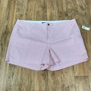 NWT Old Navy Seersucker Pinstripe Shorts Size 20